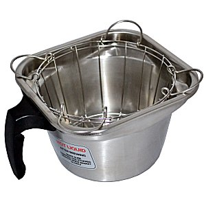 stainless steel brew basket with clips replacement for fetco b002280b1 - Fetco