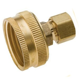 Brass Adapter Compression X Female Garden Hose Swivel With Washer 3/8 X 3/4
